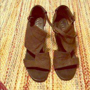 ANYI LU block heel genuine leather  size 8